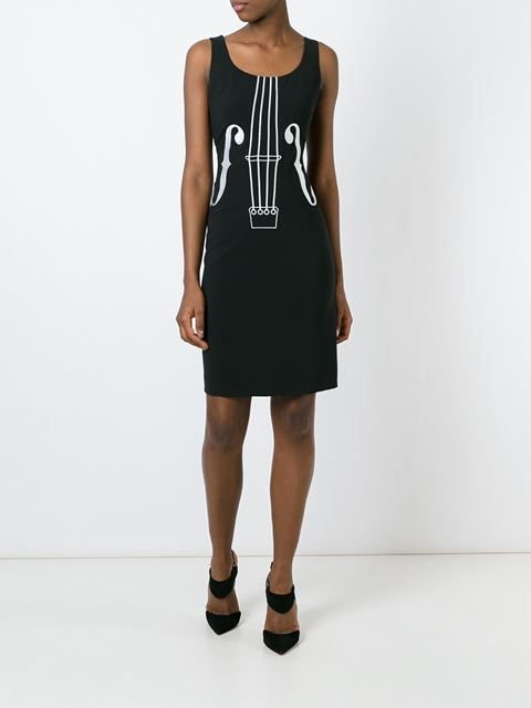 Boutique Moschino платье с вышивкой скрипки
