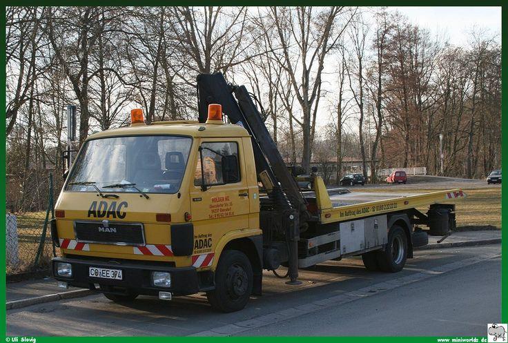 MAN G90 oldtime platform tow wrecker truck