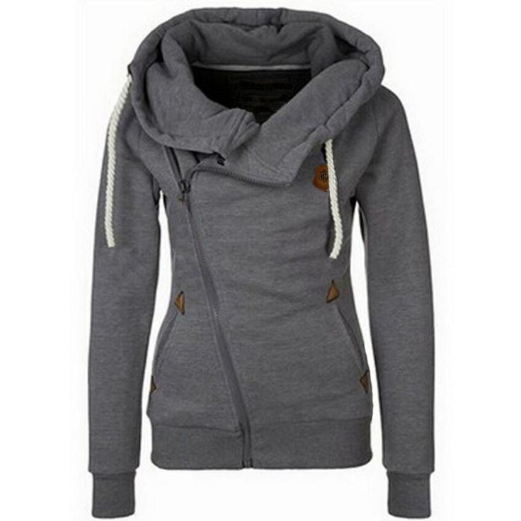 2016 Solid Women Hoodies Sweatshirts Spring Autumn Hoodies Women Zipper Design Thicken Hoody Women Hoody Sweatshirt S-XL Size