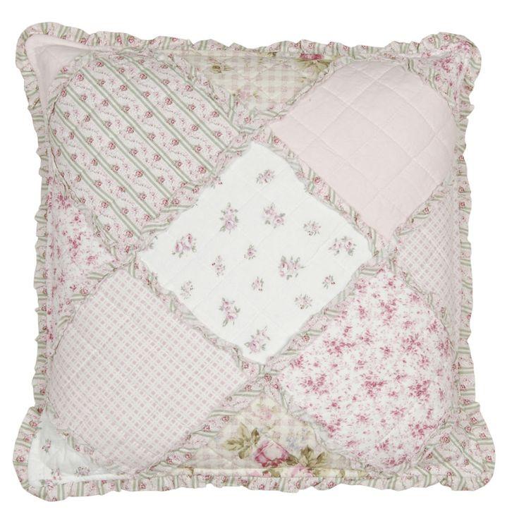 Clayre & Eef,  Kissenhülle, Quilt, Patchwork, 50 x 50 cm , rosa