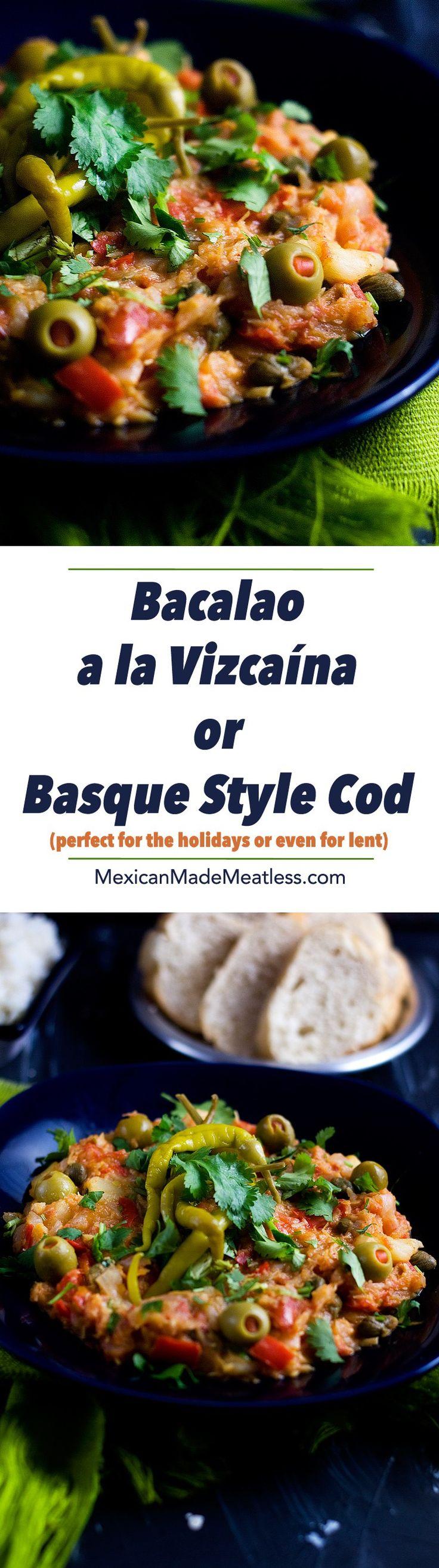 Bacalao a la Vizcaina or Basque Style Cod