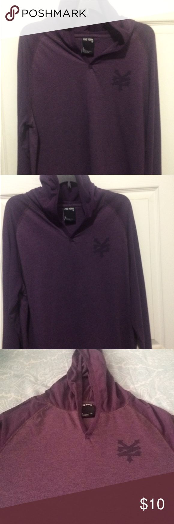Zoo York Men's Hoodie, Large Men's purple hoodie, purple, large.  This is a light material hoodie good for spring or early morning chill.  Young men will love this! Zoo York Jackets & Coats Lightweight & Shirt Jackets