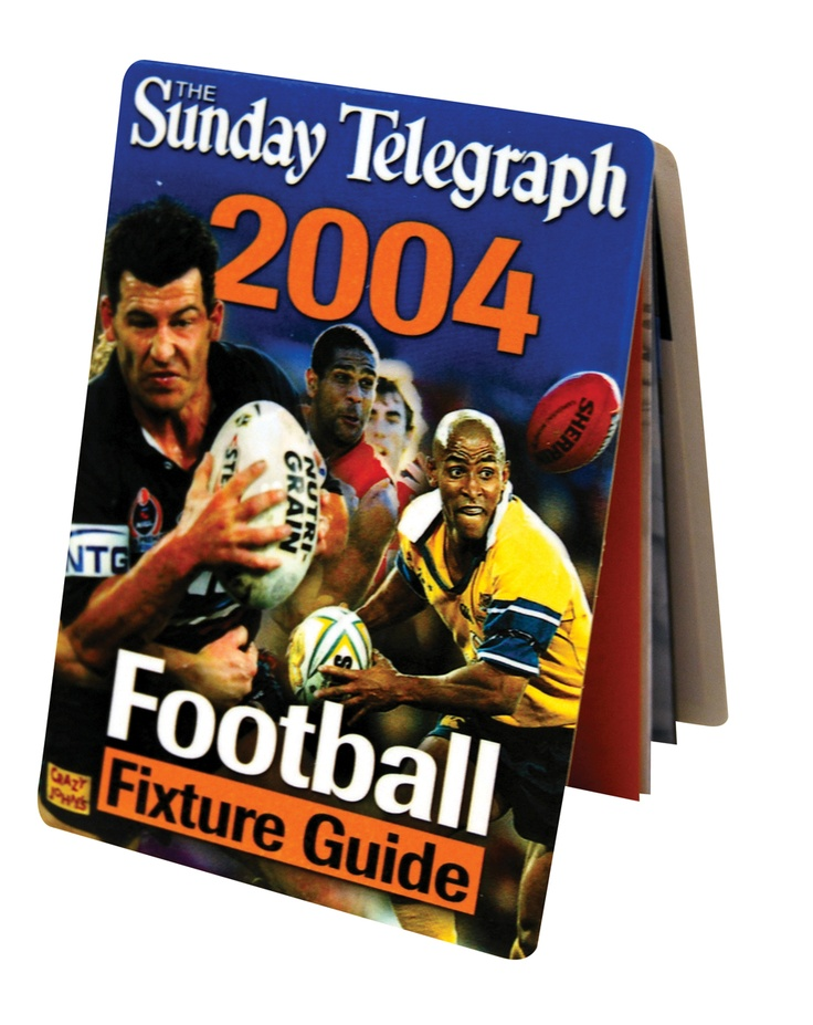 Sunday Telegraph Football Fixture Z-CARD
