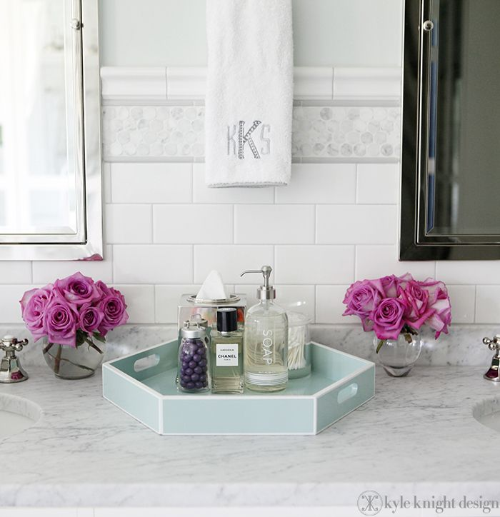 Knight Moves: Bath Accessories With Panach Love The Subway Tile With The  Countertop