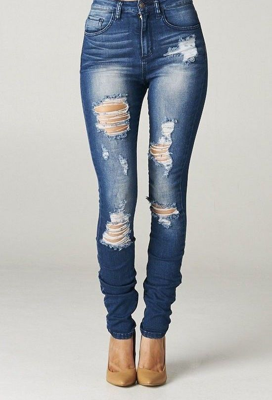 DIY How to Rip Your Jeans   eBay: