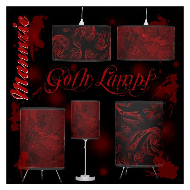 """Goth Lamps"" by mannzie on Polyvore featuring #interior, #Interior #RedLamps #Lamps #Gothic. Sold on Zazzle."