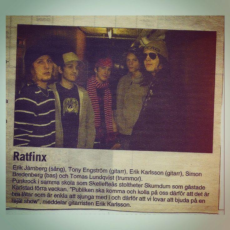 Ratfinx in the local paper VF, 2005. #ratfinx #2005 #hagfors #värmland #vf #värmlandsfolkblad