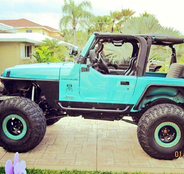 Tiffany Blue Jeep