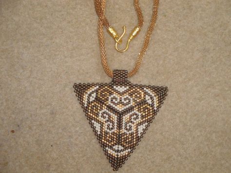 Miyuki NecklaceGeometric Triangle by gulum on Etsy, $35.00