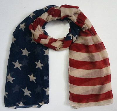 >> Click to Buy << American Flag Scarf Vintage USA Flags Desigual Scarves Pashmina Shawls Long Scarf Chiffon for Men Women #Affiliate