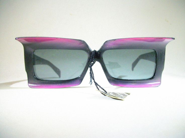 Vintage Foster Grant Sunglasses / 1960's / Purple / Batwing by VintageHomeShop on Etsy