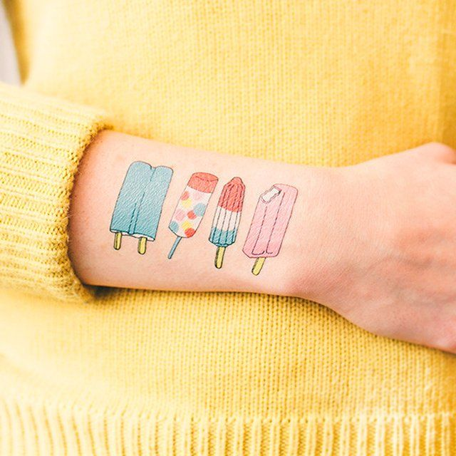 Fancy - Popsicle Temporary Tattoos by Tattly