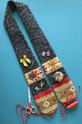 Quilter's Chatelaine:  Could use a man's tie!