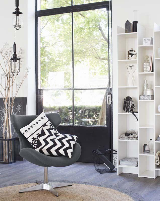 KARWEI | Lekker basic én krachtig: de eenvoud van zwart en wit. #wooninspiratie #woonkamer #karwei