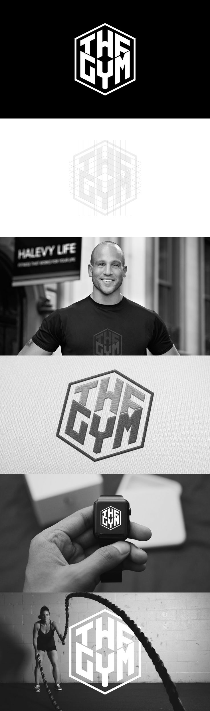 The Gym Logo Designed by Ricky Richards www.brandedbyrick.com
