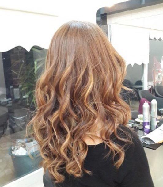 Bakır Kahverengi Saç Rengi Ombre