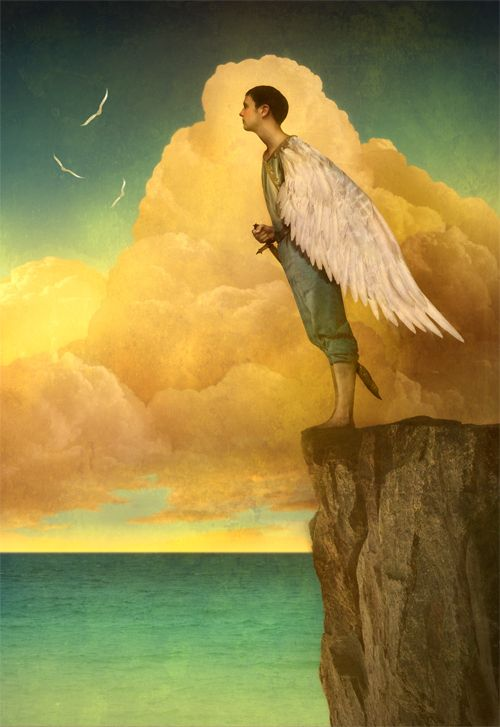 nezartdesign:    (via Matt Mahurin - EDITORIAL)    Artist not listed (? Maxfield Parrish)