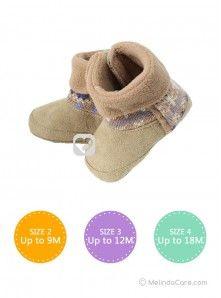 Sepatu Boots Bayi: Mothercare Boot Rajut Coklat Rp. 55.000 Kunjungi: www.melindacare.com atau hubungi 081321148408 dan Pin 765BEE5E
