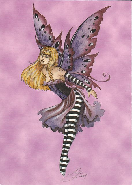 amy brown fairies | Amy Brown Pink & Purple Fairy Postcard | Flickr - Photo Sharing!