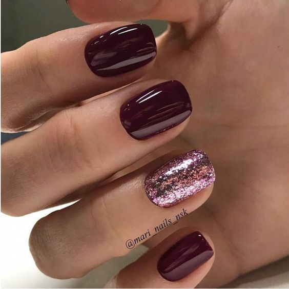 54 Autumn Fall Nail Colors Ideas You Will Love Koees Blog Wine Nails Nails Short Nail Manicure