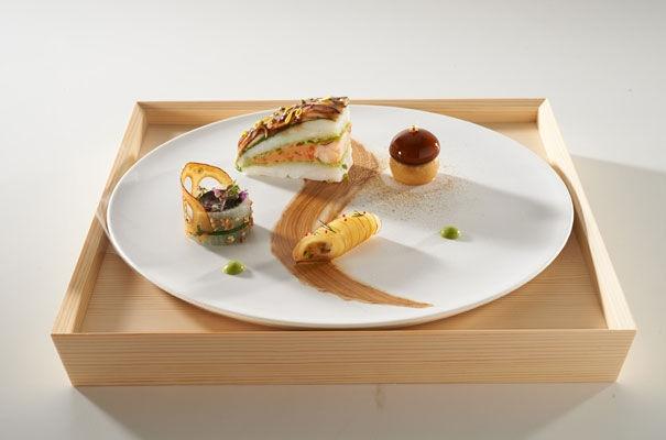 Assiette poisson Japon bocuse 2013