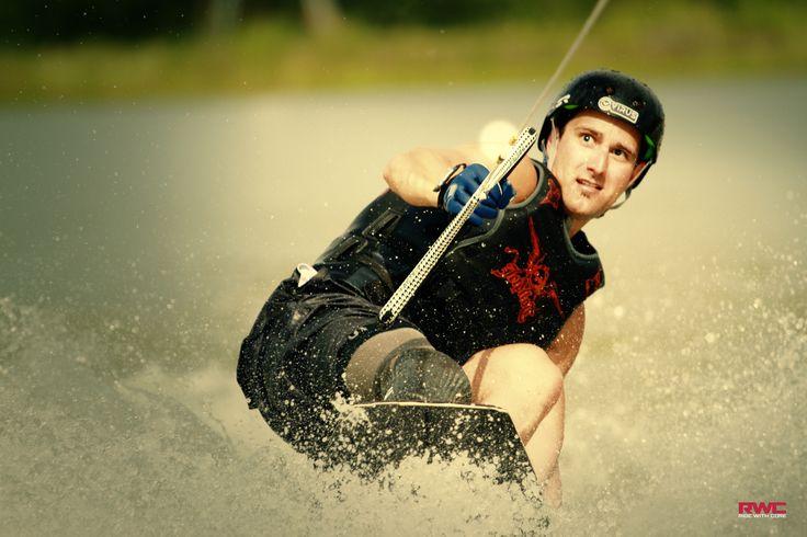 Blind adaptive athlete Corey Reed wakeboarding at TSR!