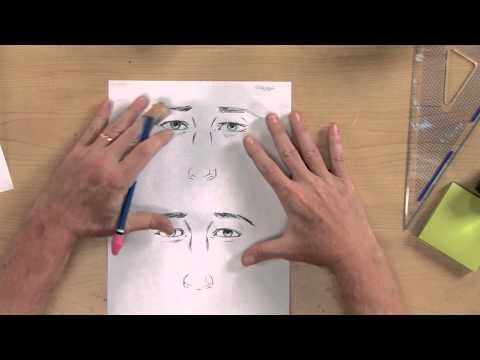 Preview Chris Hart Art School: How to Draw Heads  Faces now and learn easy drawing tips for adding dimension to eyes and noses, and how to place the features to draw a realistic profile view of the face. Then visit http://ArtistsNetwork.tv to access teh full-length video workshop.
