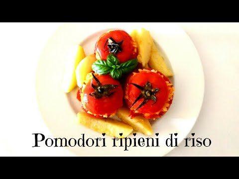 I pomodori ripieni di riso è una tipica ricetta estiva ma in questo caso la video ricetta vi mostrerà come prepararli senza l'uso del forno. Gli ingredienti