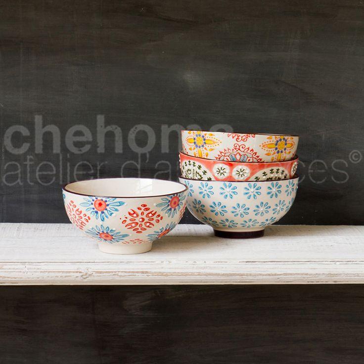 Assiette à dessert Bohemian en céramique - 4 motifs au choix Deco Magasin de déco et cadeaux - Ambiances et Matières