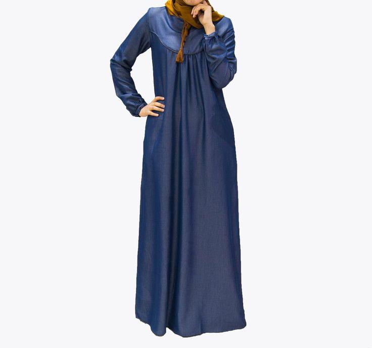 Robe Sabrina fluide, en jeans avec une coupe décontractée, très agréable à porter Coloris : Bleu Taille : Du S au XXL