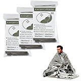 MUST TGC Kit list: Emergency Thermal Blankets , Survival Reflective Thermal First Aid Foil Blanket (Silver 6 pack)