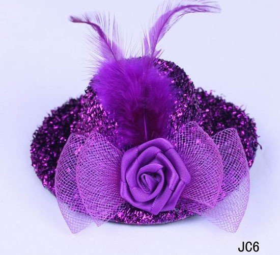 $0.79  Feather Hair Clip Accessory Hairpin Lady's Children Cute Lovely Hat Purple #Eozy