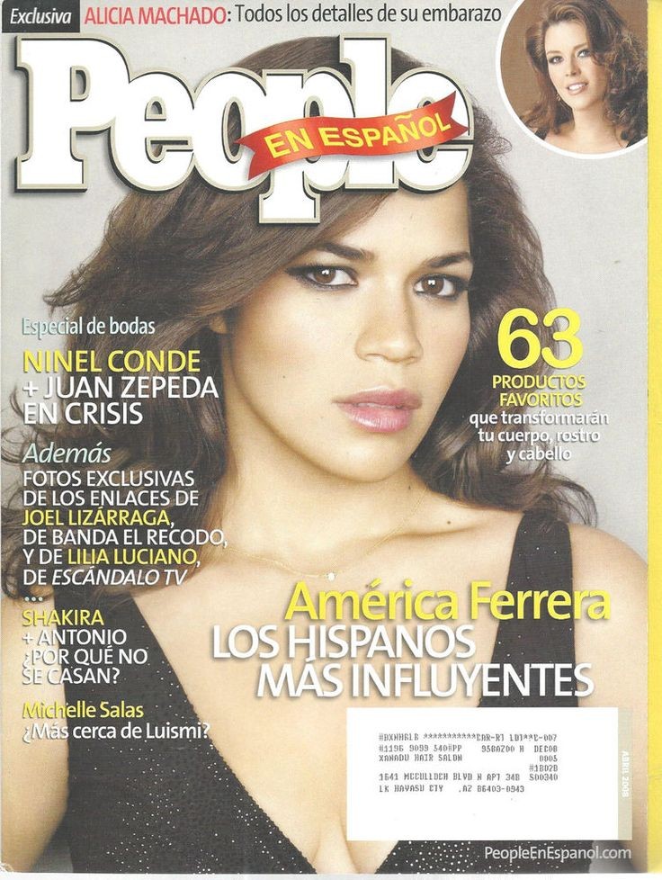 America Ferrera Spanish People Magazine April, 2008 Shakira TV Movies  #unknown