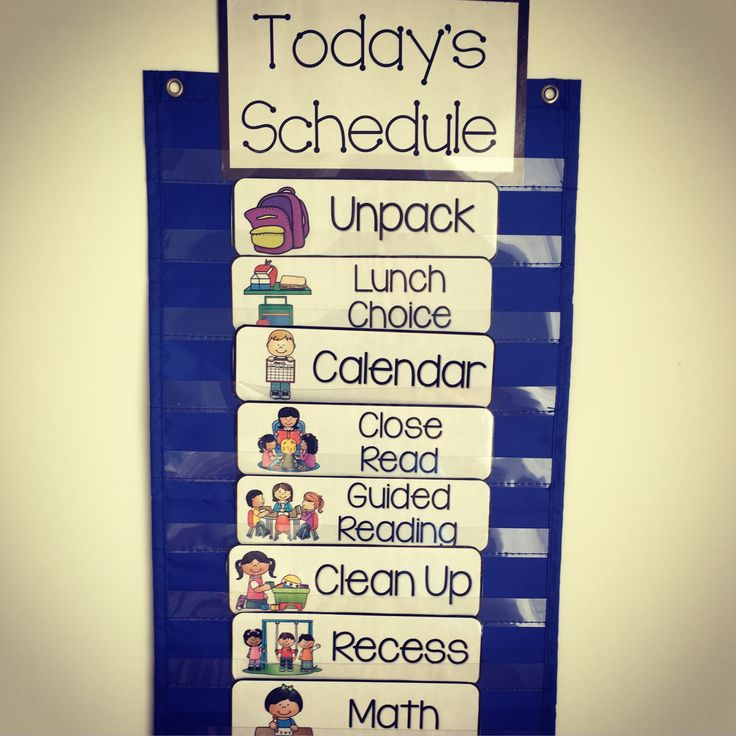 Class Visual Schedule Cards - Great Classroom Visuals ...