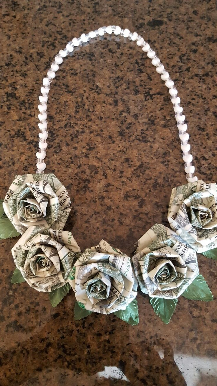 Money Origami Dollar Roses Lei