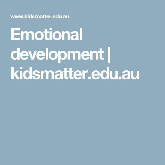 Emotional development | kidsmatter.edu.au