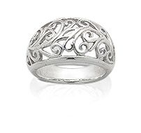Damering i 925 Sterling sølv.Topp bredde:13 mm.  #sølvsmykke #sølvring #damering #925sterling #zendesign