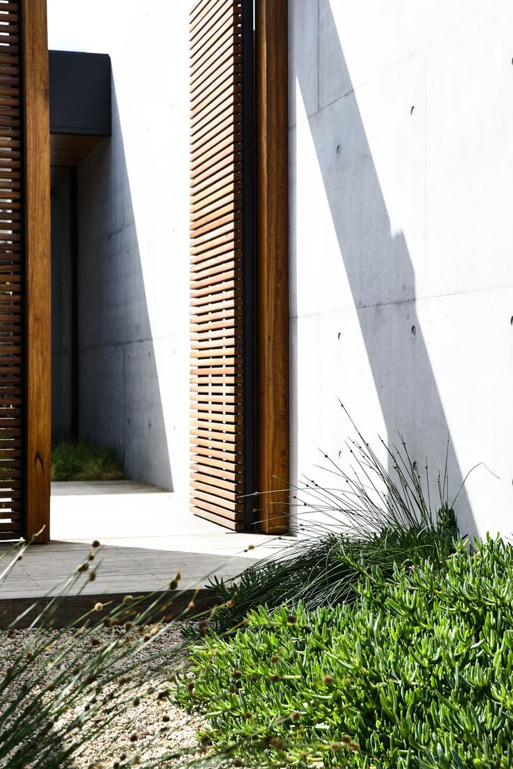 Like the inclusion of the timber screening. Designed by Acre - Munro Street. www.acre.com.au Photo by Derek Swalwell. Construction by Powda. Architect: Planned Living Architects.
