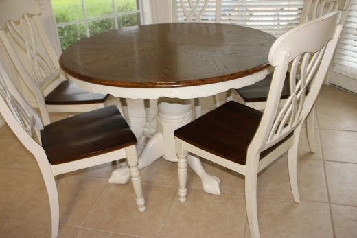 That Village House: Kitchen Table Redo & Linky Party