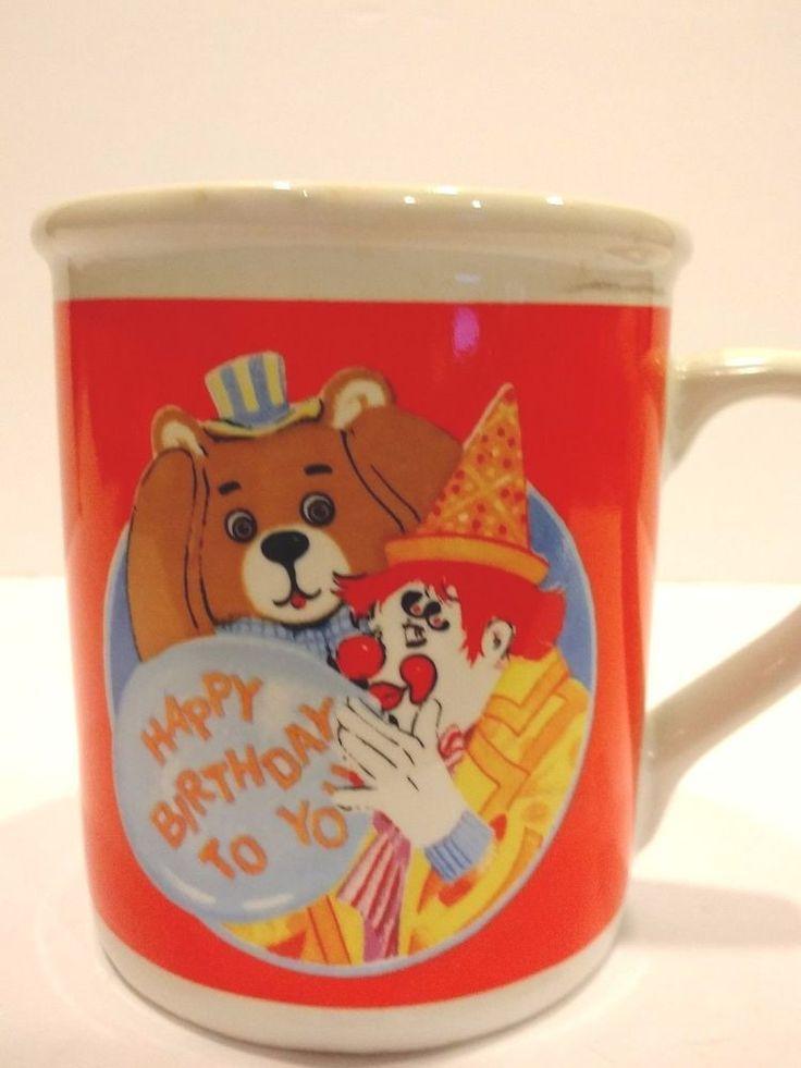Musical Christmas Mug Cup Happy Birthday Song Ceramic Coffee Clown Gag Gift Fun