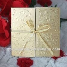 U010 golden wedding invitation card