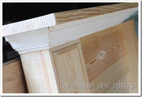 How to build a mantel from scrap wood.