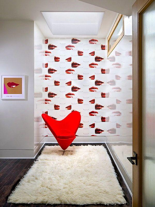 """Fauteuil """"Heart Cone"""" dessiné en 1959 par le célèbre designer danois Verner Panton (designfoliablog)"""