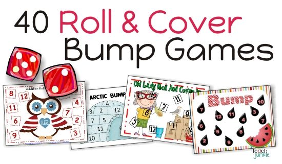 a TON of roll & cover games! christmas, thanksgiving, and anytime! For different grade levels, K-3
