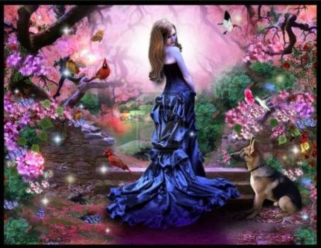 Lady_in_blue_in_garden (130 pieces)