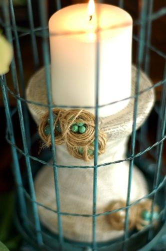 Easter Candle Holder with Twine Bird's Nests: Bride Magazines, Decor Ideas, Seattle Wedding, Birds Nests, Twine Birdnest, Robins Nests, Bird Nests, Nests Candles, Seattle Bride