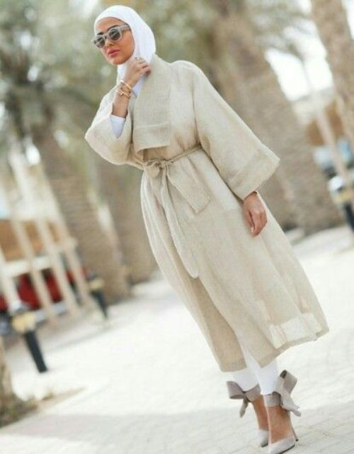 classy neutral jacket with belt