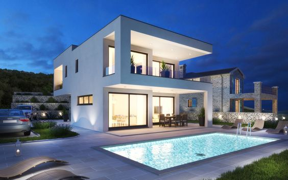 Luxury modern house on a beautiful location / Real Estate Croatia / Island Krk