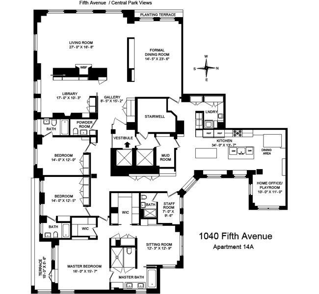 17 best images about penthouse on pinterest nyc for Ada apartment floor plans