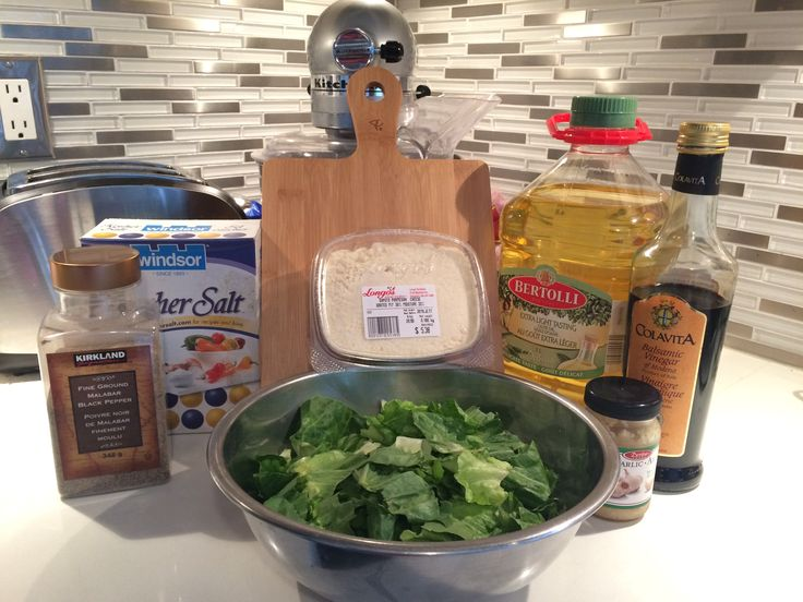 Eggless caesar salad dressing! #clean eating #yummy #delicious